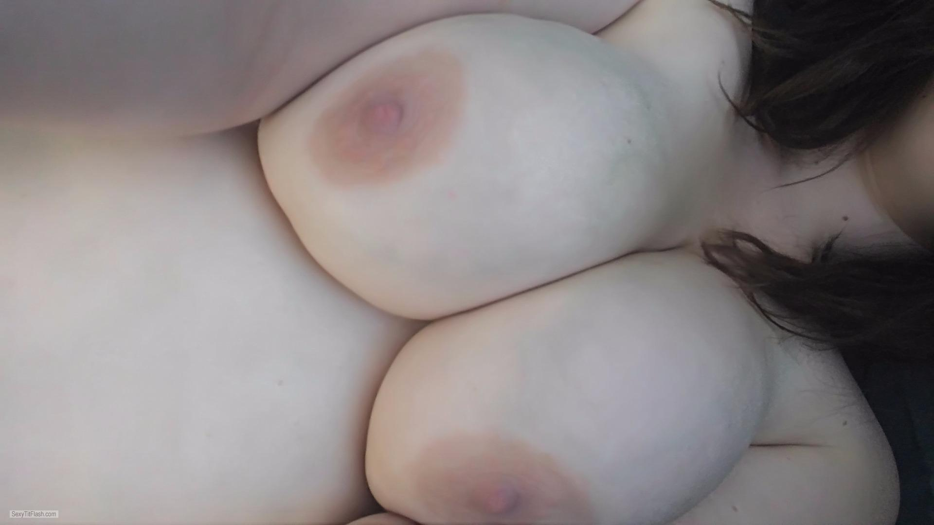 Tit Flash: My Big Tits (Selfie) - Panda from United States